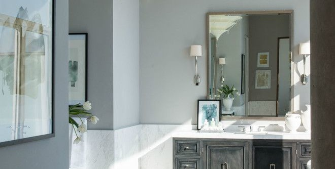 Zaza Hotel Dallas for a Modern Bathroom with a Chandeliers and W Hotel Dallas South Unit by Platinum Series by Mark Molthan