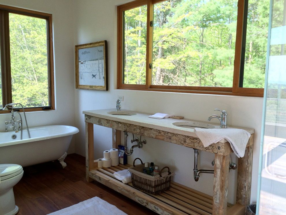 Zeon Zoysia for a Modern Bathroom with a Catskills Designer and Red Rock Staging by Bespoke Decor
