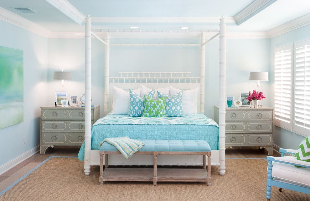 Zillow La Jolla for a Beach Style Bedroom with a Tufted Bench and Greenwillow by AGK Design Studio