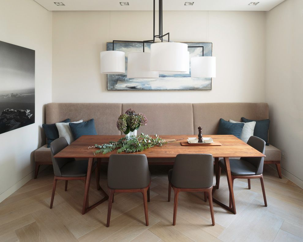 Zillow La Jolla for a Contemporary Dining Room with a Recessed Lighting and Maida Vale Residence by Staffan Tollgard Design Group