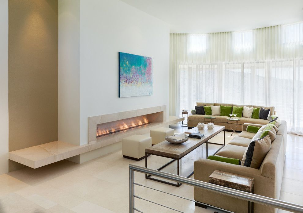 Zillow La Jolla for a Contemporary Living Room with a White Wall and Living Room by the Refined Group