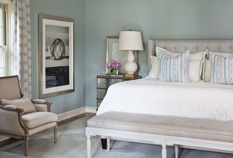 Zillow La Jolla for a Transitional Bedroom with a Wall Art and Pleasant Valley by Tobi Fairley Interior Design