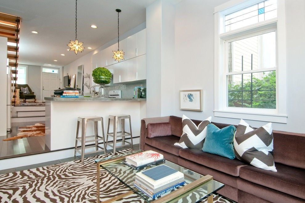 Zillow La Jolla for a Transitional Family Room with a Slate and Michelle Miller Interiors by Michelle Miller Interiors