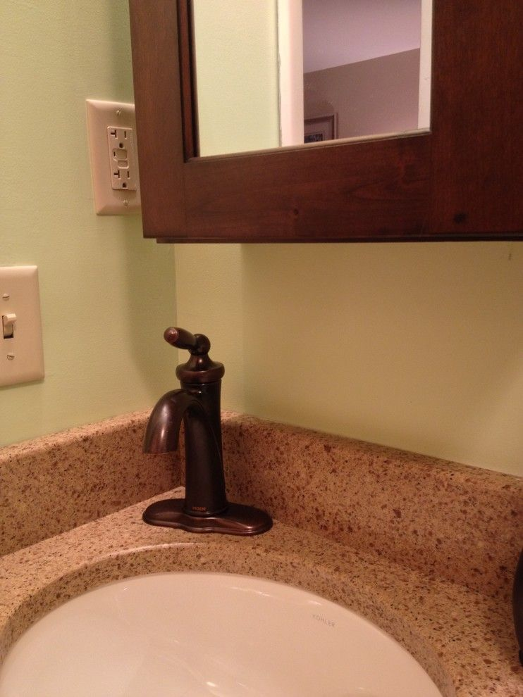 Zodiaq Countertops for a  Bathroom with a Undermount Sink and Schuler Master Bath   Carlisle by Lowes of Carlisle, Pa