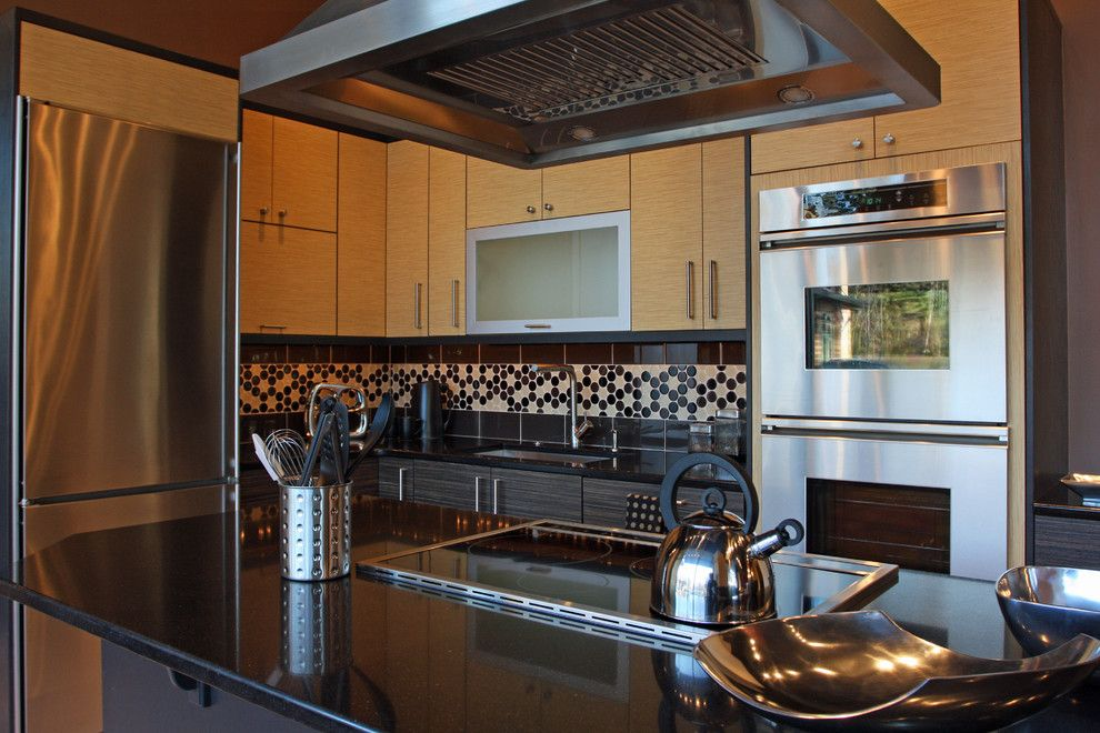 Zodiaq Countertops for a Contemporary Kitchen with a Asian and Showroom Kitchen Display by Featured Kitchen and Bath, Inc.