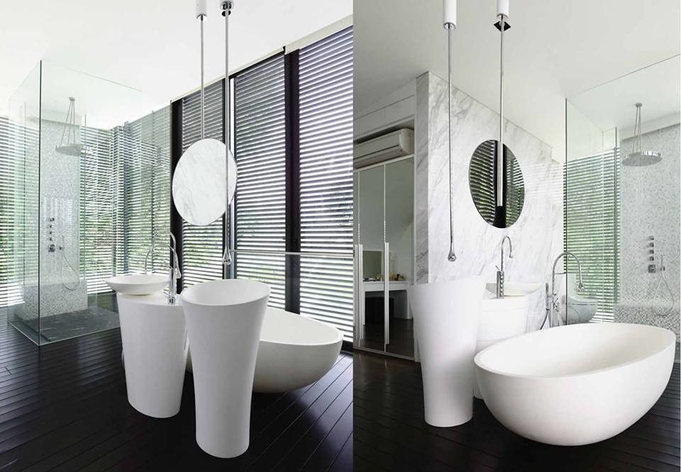 Zucchetti for a Contemporary Bathroom with a Bungalow and Andrew Road 3 Storey Bungalow by Gessi Singapore