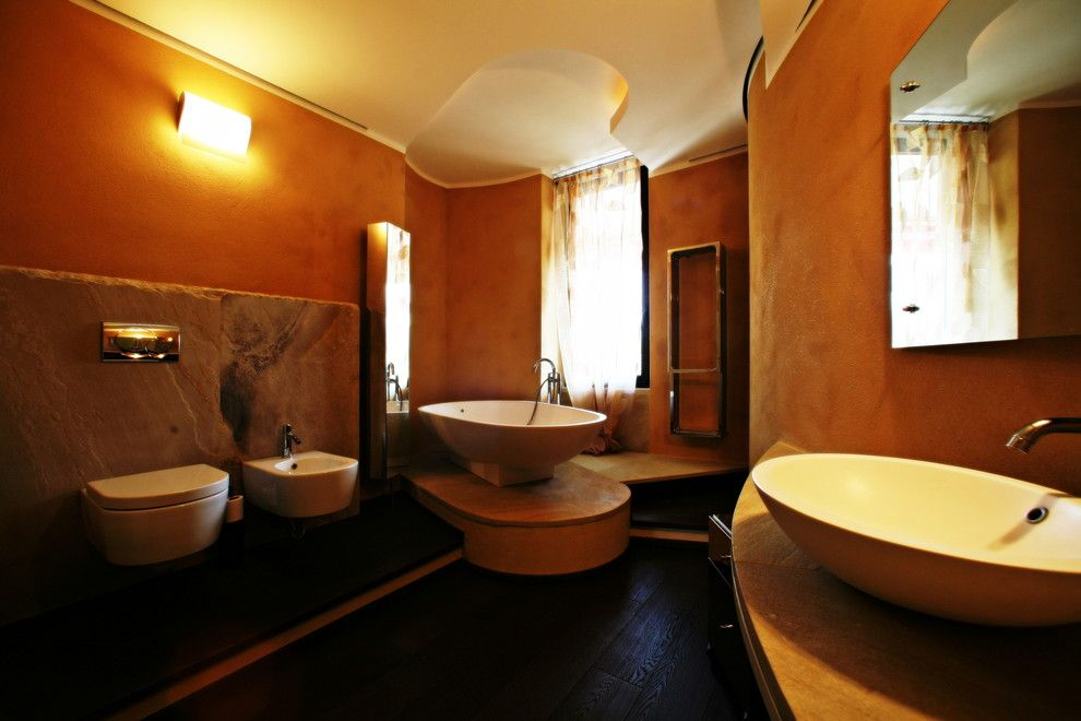 Zucchetti for a Modern Bathroom with a Flaminia and Bagno Padronale by Silvia Pietta Architetto